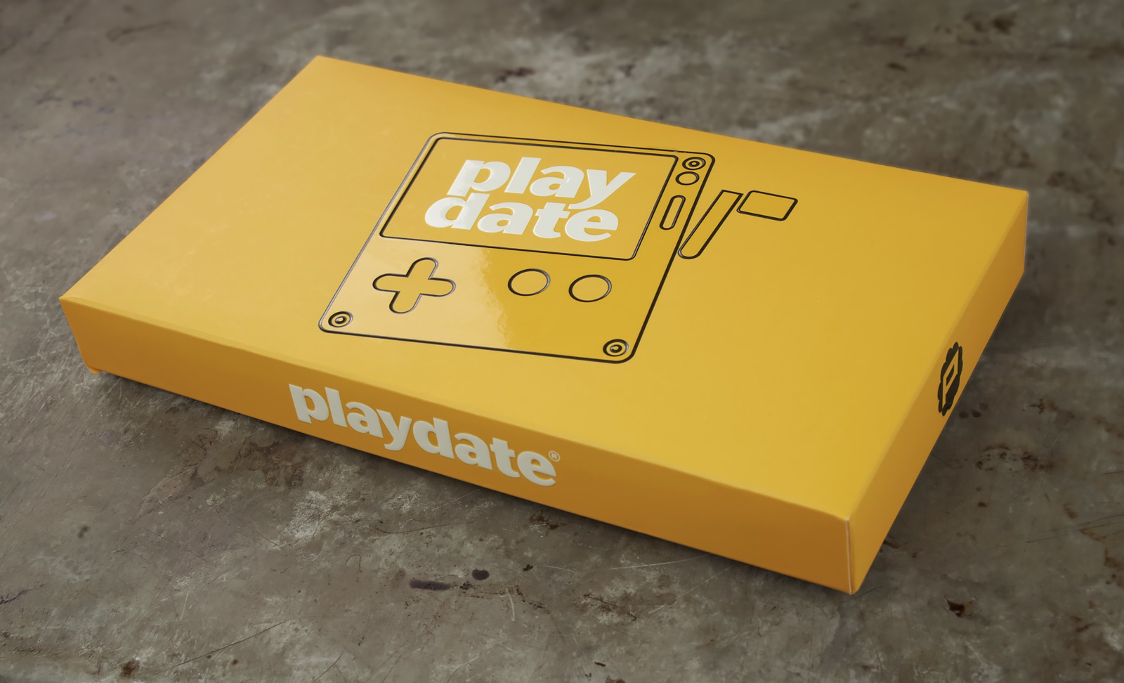 The packaging for Playdate