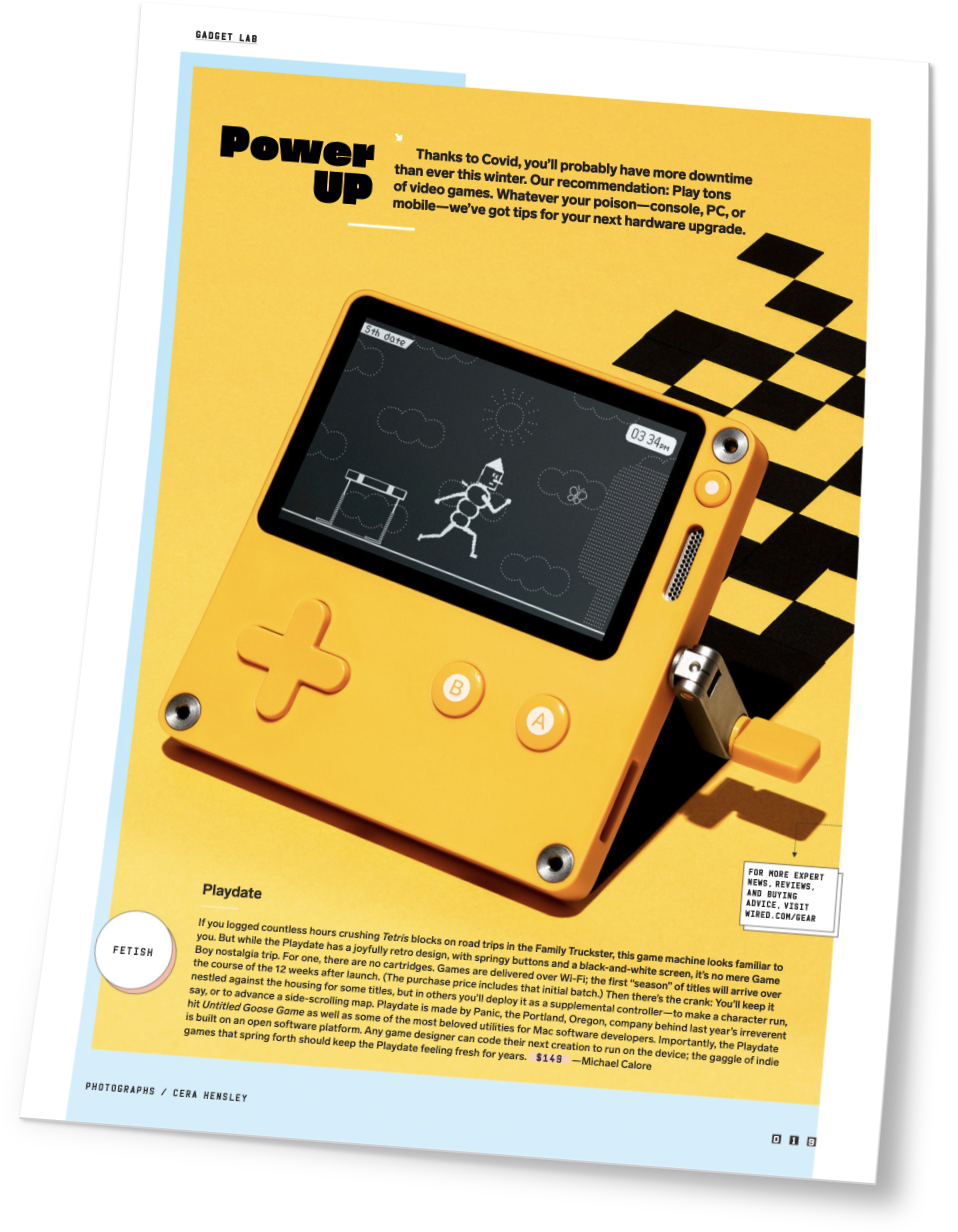 October 2020 Wired magazine feature on Playdate